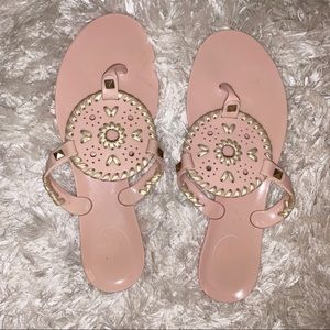 Jack Rogers Blush Pink jelly sandals